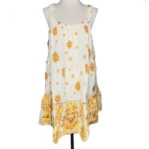 Free People Womens Large Mini Dress Talk to Me New